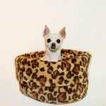 Leopard Print Snuggle/Cuddle Dog Bed Sack